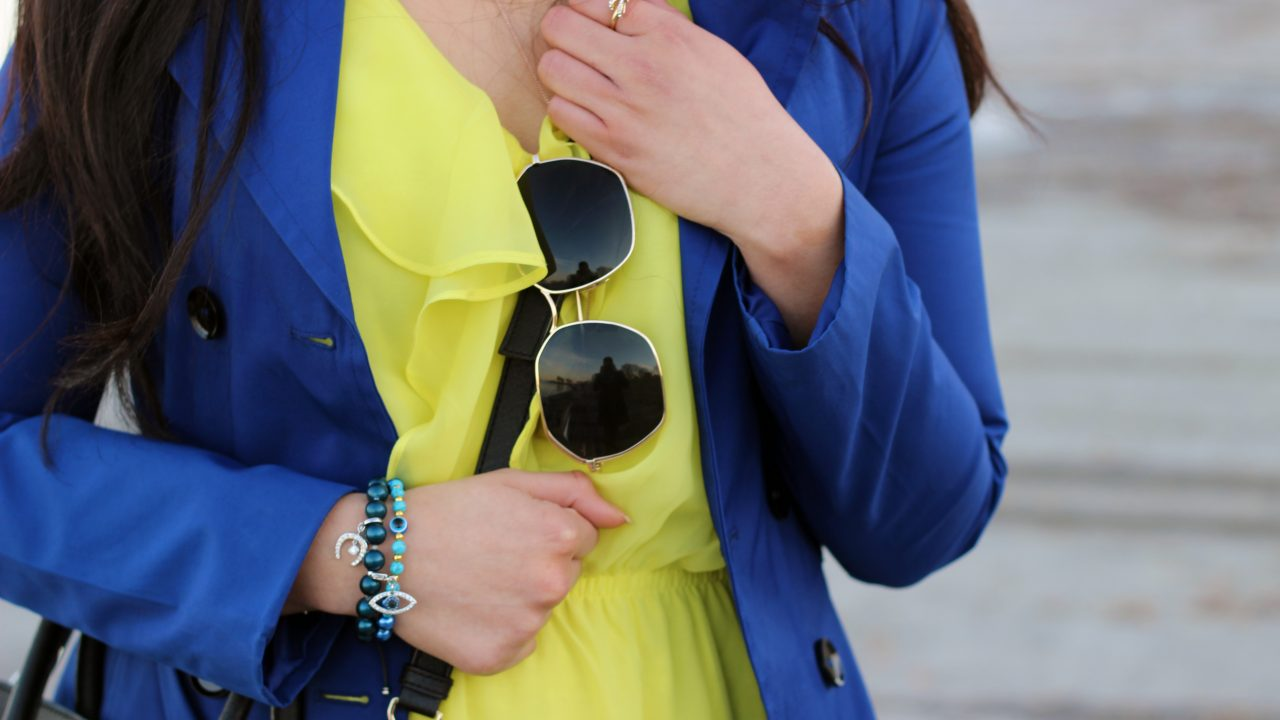 Playing with Colors + Blue Trench Coat