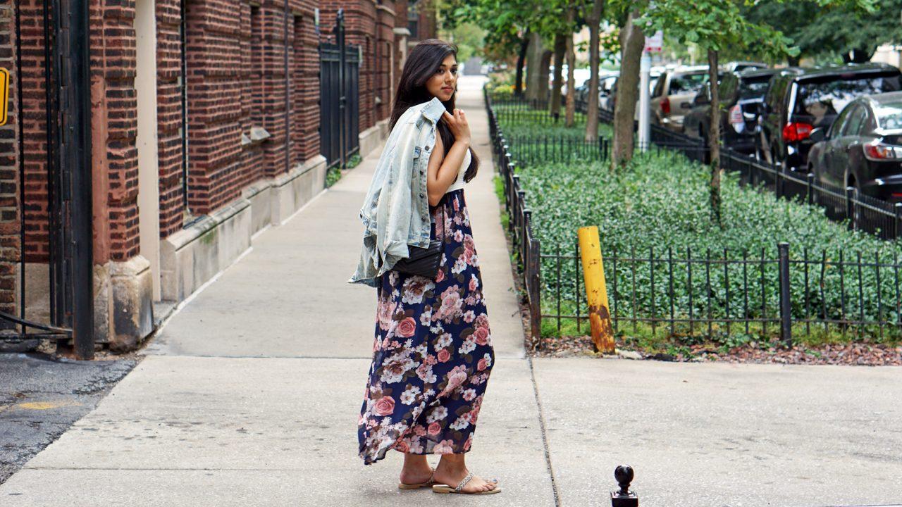 Floral Dress & A Jean Jacket