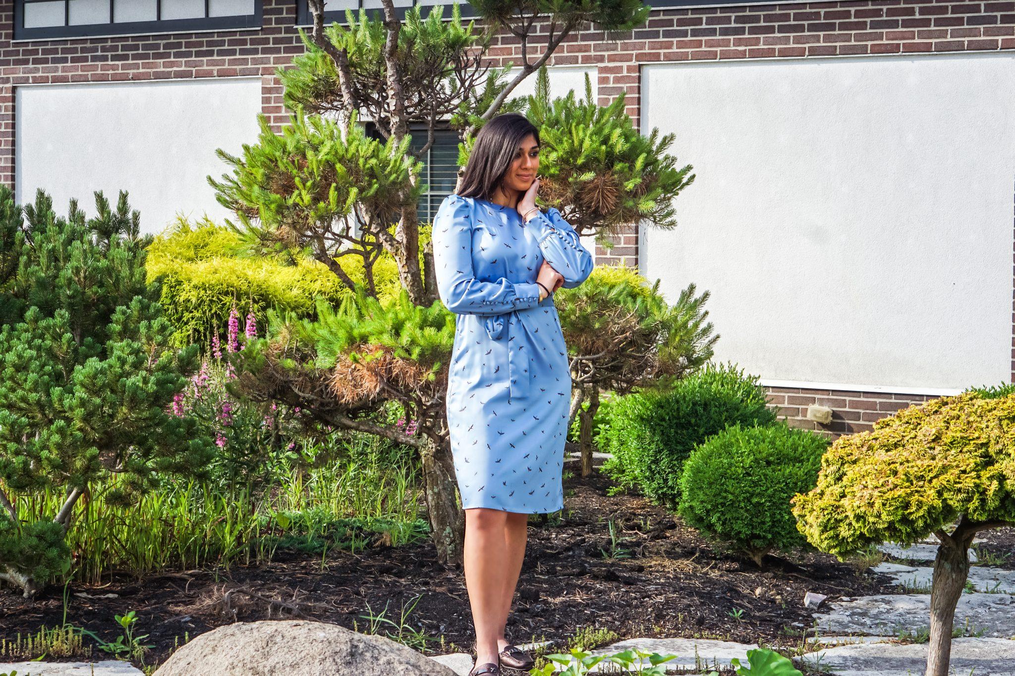 H&M Blue Birds Dress | Columbus, OH