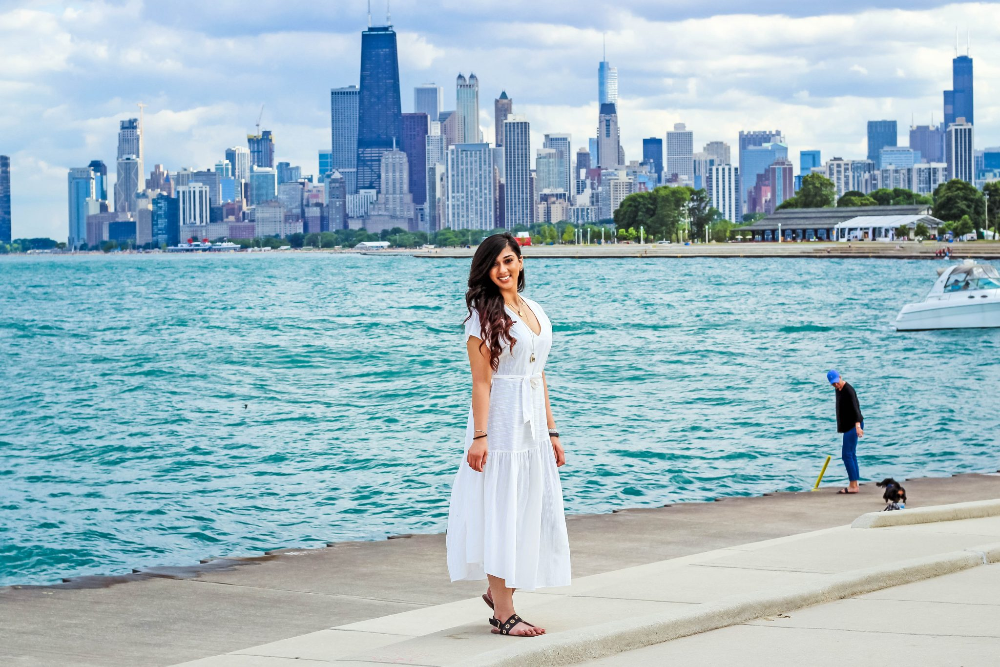 Zara White Summer Dress | Chicago